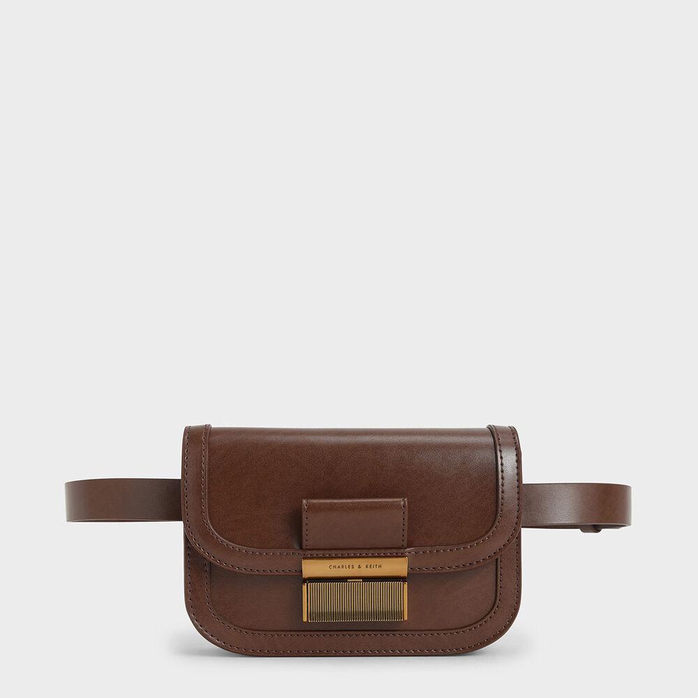 金釦兩用腰包
