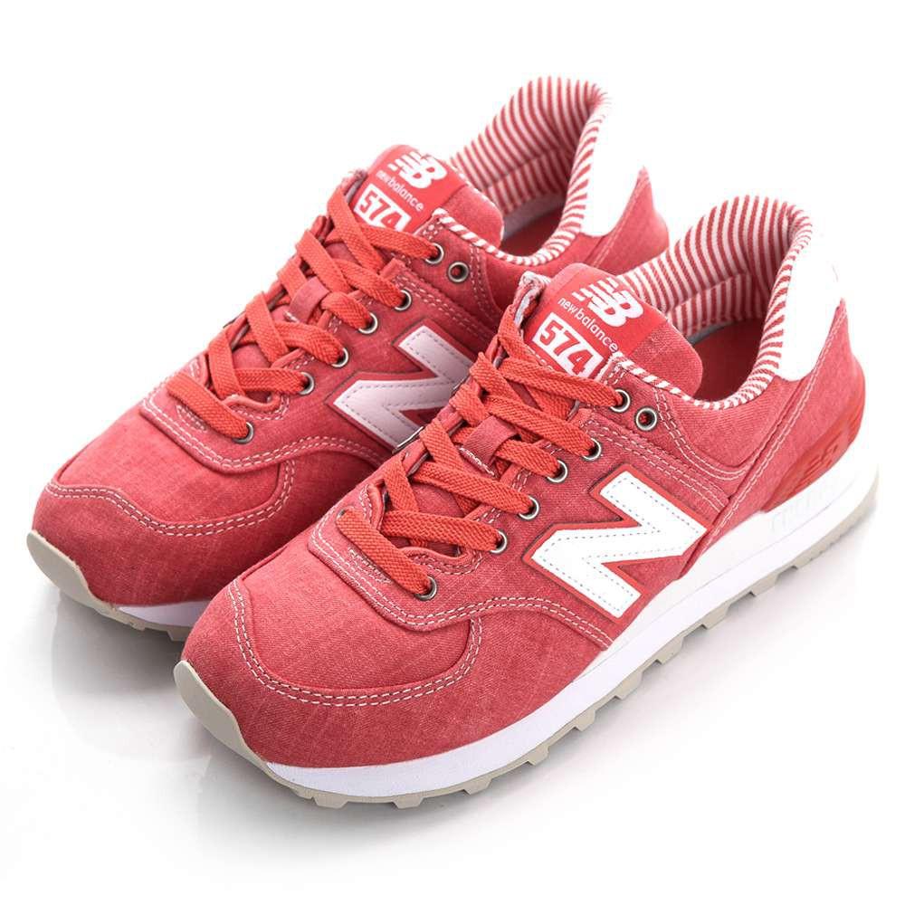 NEW BALANCE-TIER 3 女復古鞋 WL574CHE-B-紅