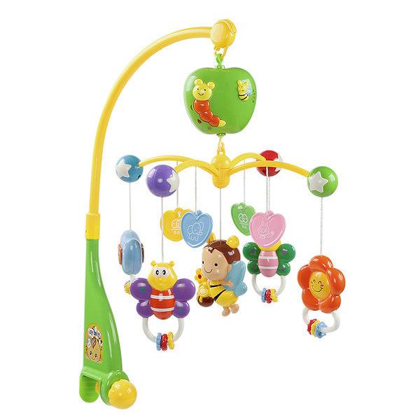 新生兒床鈴0-1歲嬰兒玩具3-6個月寶寶益智音樂旋轉搖鈴床頭鈴