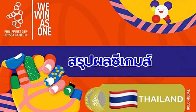 ได้เพิ่ม 4 ทอง! สรุปผลนักกีฬาไทยในซีเกมส์ 5 ธันวาคม