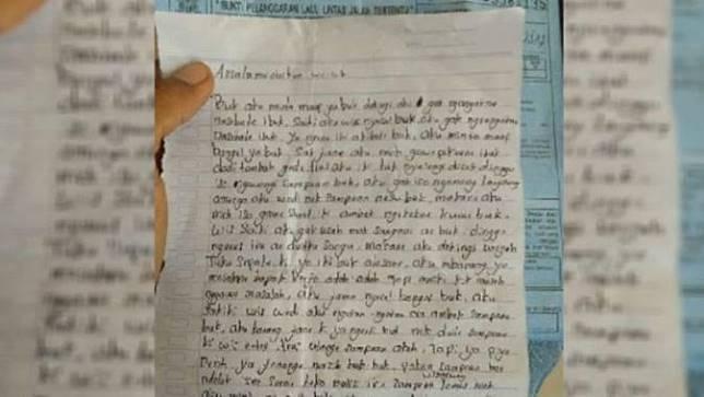 Langgar Nasihat Ibu, Surat Penyesalan Bocah Ini Bikin Nangis Bombay