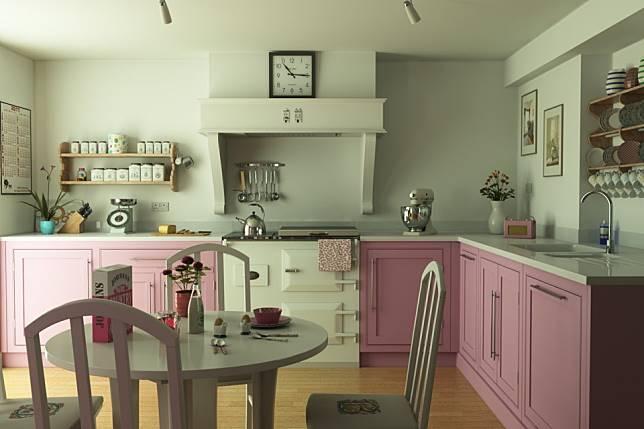 Inspirasi Desain Dapur Bergaya Feminim Tidak Melulu Pakai Warna Pink