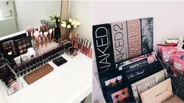 化妝品大爆炸?學會這 5 招「美妝收納法」讓妳的書桌重見天日!