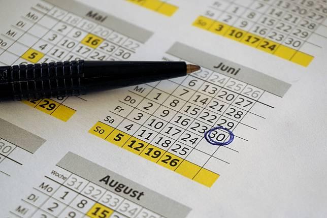 ILUSTRASI tanggal, kalender.*