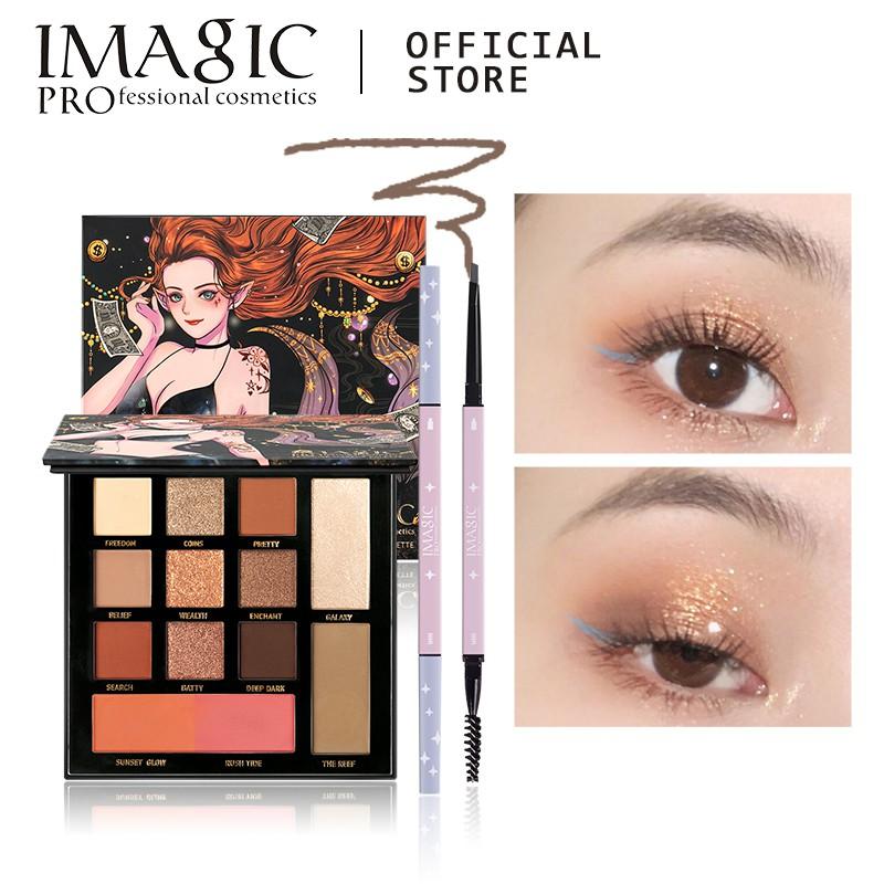 產品信息品牌名稱:IMAGIC眼妝套裝包括:EY-334眼影調色板和EY-339眉筆眼影調色板包括:9色眼影,1色高光,1色輪廓,2色腮紅眉筆:5種顏色可供選擇適合皮膚類型:任何皮膚類型功效:修飾輪廓