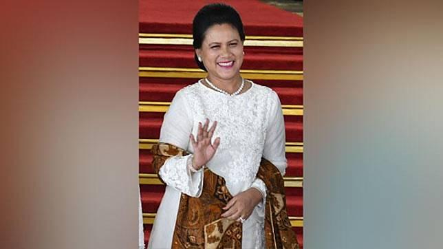 Iriana saat pelantikan Presiden dan Wakil Presiden 2019-2024. ANTARA