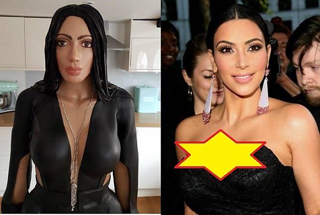 Unik, Kue Ulang Tahun Ini Berwujud Mirip Kim Kardashian!
