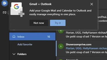 微軟 Outlook 網頁版整合 Gmail 、Google 雲端硬碟與日曆服務現正測試中