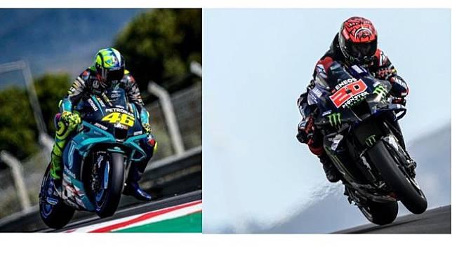 Valentino Rossi dan Fabio Quartararo (Twitter)