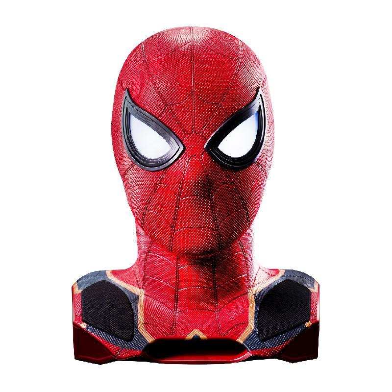 產品特色 高度還原電影角色,最新深藍紅金配色戰衣 高質感設計,打造近電影中蜘蛛人的網狀紋路 開機指示LED燈,開啟電源時眼睛LED燈會亮起 專屬的聲光效果,直接感受電影氛圍 採用藍牙傳輸,或使用3.5