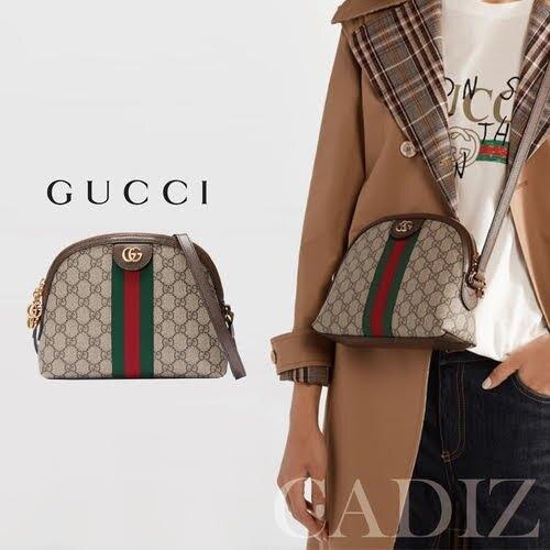 預購 義大利正品 GUCCI Borsa a spalla Ophidia GG 復古印花雙G帆布單肩包 499621