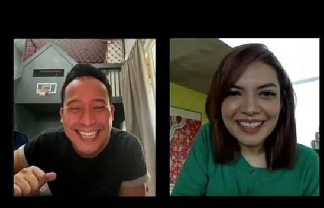 Social Distancing Denny Cagur dan Najwa Shihab Adu Gombal