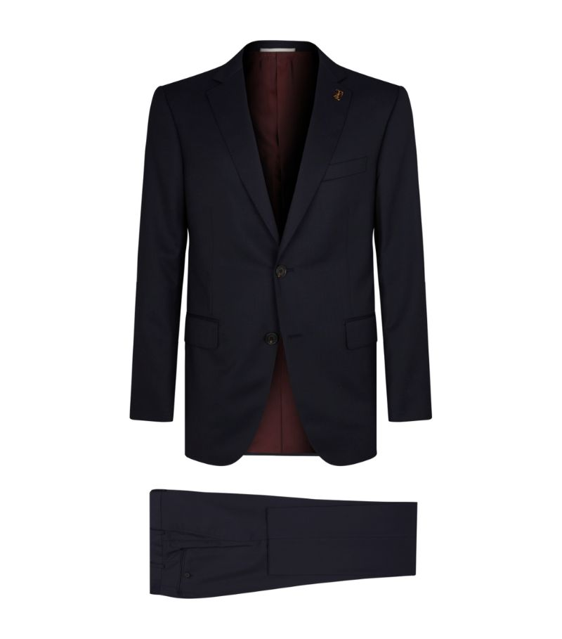 Perfectly capturing the masculine style of Italian tailoring, this two-piece suit from Pal Zileri fe