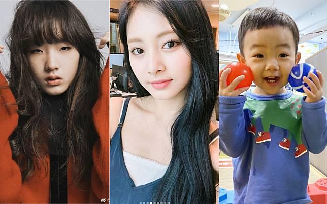 ▲許曦文(左)、周子瑜(中)、蔡桃貴(右)年紀輕輕就超紅。(圖/翻攝微博、臉書、IG)