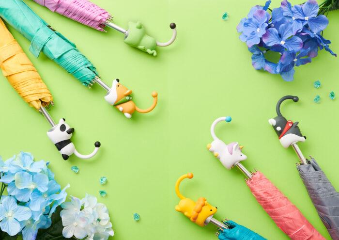 可愛動物咬咬傘柄套選擇多樣
