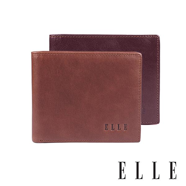 精緻牛皮 皮夾正面質感LOGO 雙層鈔票夾 2面透明夾層 可放照片 多格層卡片、證件收納層