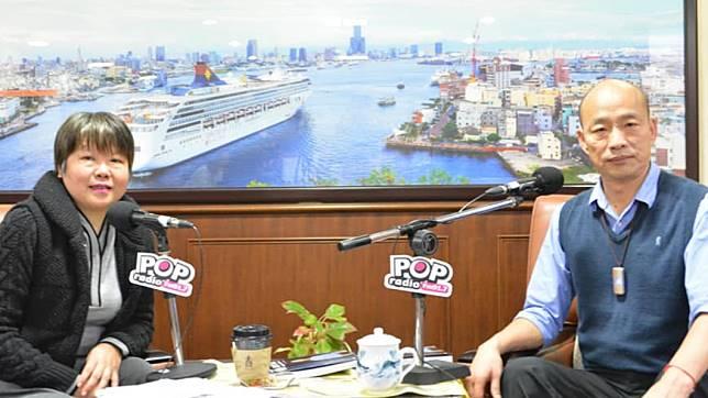 資深媒體人黃光芹(左)、高雄市長韓國瑜(右)圖/翻攝自黃光芹臉書
