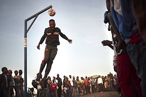 A young man trying to win a prize by hitting a ball with his head while jumping during the annual Festival on the Niger in Segou on Feb. 7.Forty people, including nine soldiers, have been killed in a spate of attacks in central Mali, authorities said Friday, with most of the deaths caused by inter-ethnic violence in the deeply troubled region.