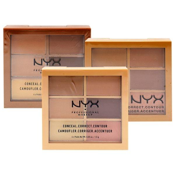 6色修容盤,遮瑕、校正膚色、修飾臉部輪廓n可單色、疊色、混色使用