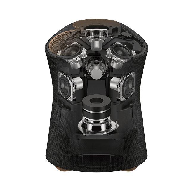 SRS-RA5000 共搭載七組驅動單體,透過聲學設計使兩個相位的音場無縫接合。