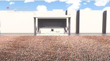 大型集會人數不用吹噓 3DCG實際模擬給你看