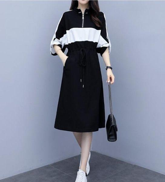 長袖洋裝 連身裙 中大尺碼