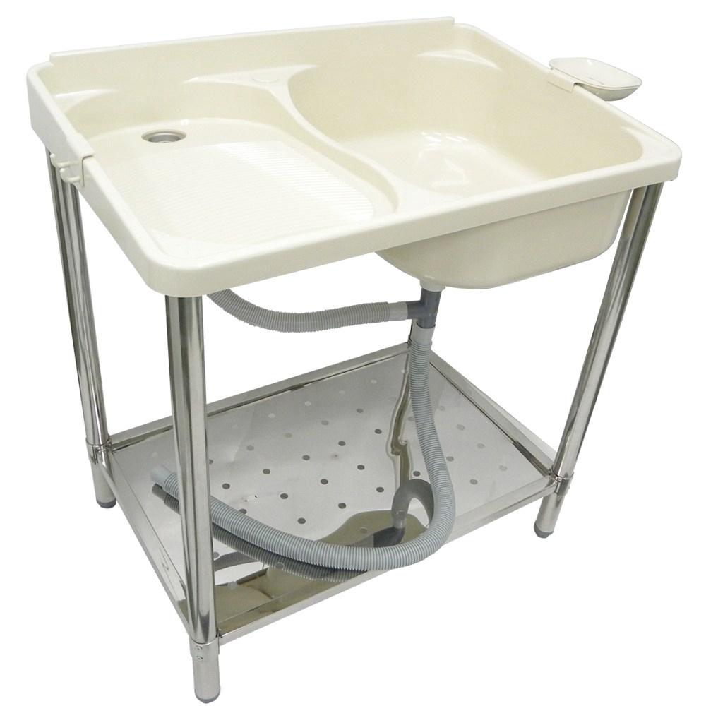 麗潔ABS不鏽鋼腳架洗衣槽附皂盤