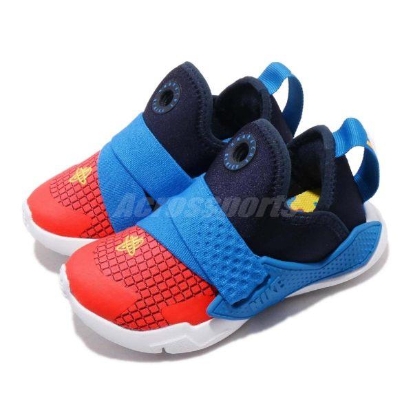 Nike 休閒鞋 Huarache Extreme Now TD 藍 橘 綁帶設計 低筒 童鞋 小童鞋 武士鞋【PUMP306】 BQ7570-400