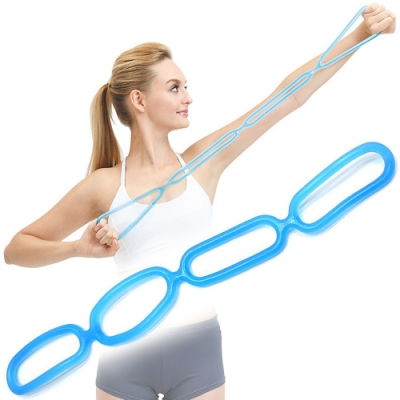 觸感軟Q強回彈+延展性高 男女適用訓練全身肌群 輕巧拉繩便利攜帶使用