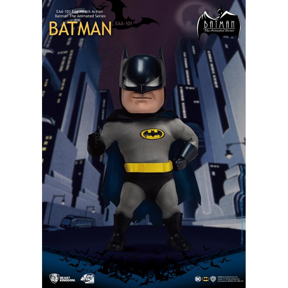 建議售價:2390元預計發貨日:2020年第1季由知名的Kevin Conroy擔任蝙蝠俠配音的經典的1992年動畫版蝙蝠俠,緊身衣搭配布料材質披風及多種替換眼型與嘴形,重現影集作畫風格,眼睛內藏發光