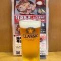 ビール 中 - 実際訪問したユーザーが直接撮影して投稿した西2条南丼もの豚丼のぶたはげ 本店の写真のメニュー情報