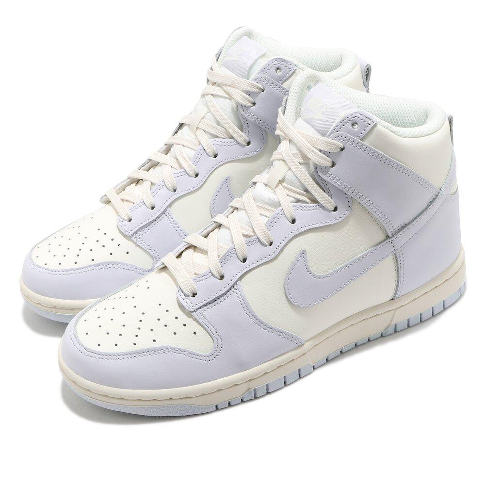 流行休閒鞋品牌:NIKE型號:DD1869-102品名:Dunk High 配色:白色,紫色