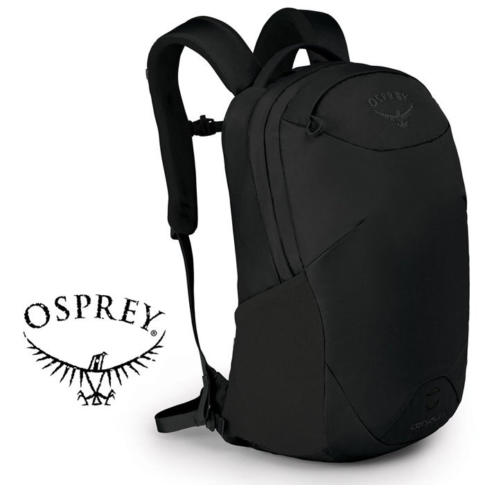 【【蘋果戶外】】Osprey 黑 Centauri 【22L】超輕多功能城市休閒筆電背包 附爆音哨 平板電腦筆電隔間 前方警示燈掛帶 通勤背包