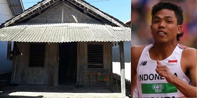 Rumah sprinter kebanggaan Indonesia, Lalu Muhammad Zohri (Foto: Istimewa/iaaf.org)