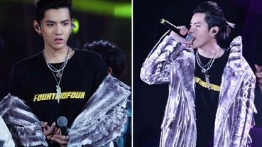《中國有嘻哈》巡演開跑!吳亦凡披「銀色皮草」與眾Rapper狂燥開唱!