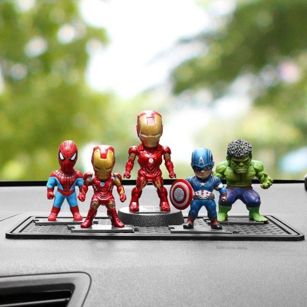 漫威手辦汽車載擺件復仇者聯盟3模型玩具鋼鐵俠 美國隊長 蜘蛛俠復仇者 時尚教主