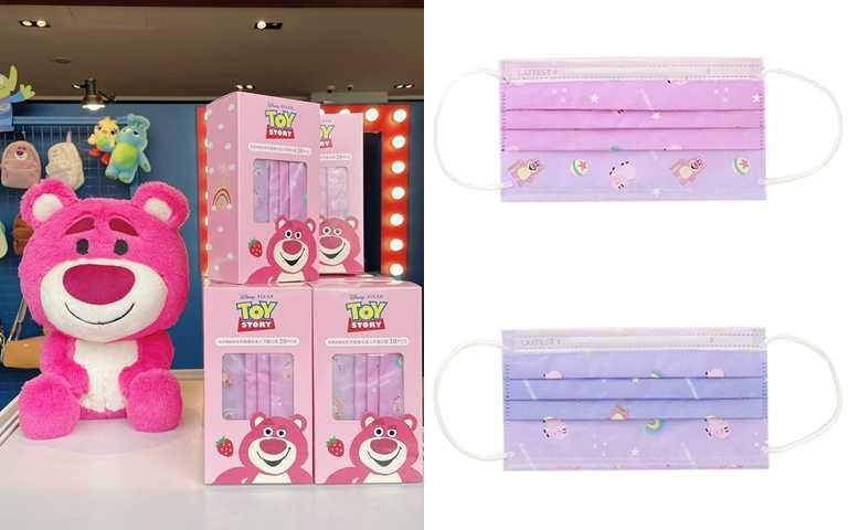 「熊抱哥」、「三眼怪」印花口罩於Grace Gift實體門市限量販售,或於1/20上官網訂購。(圖/翻攝自Grace Gift官網)