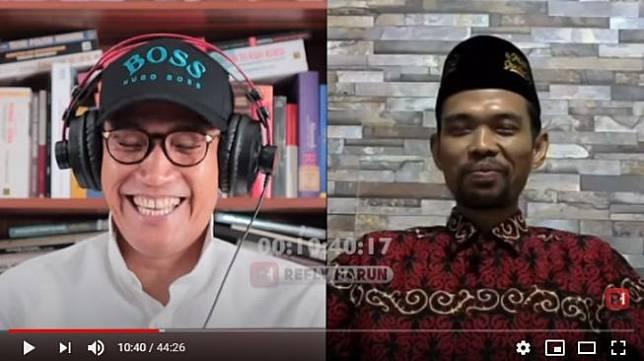 Pengakuan Ustadz Abdul Somad tak ngefans Prabowo (YouTube).