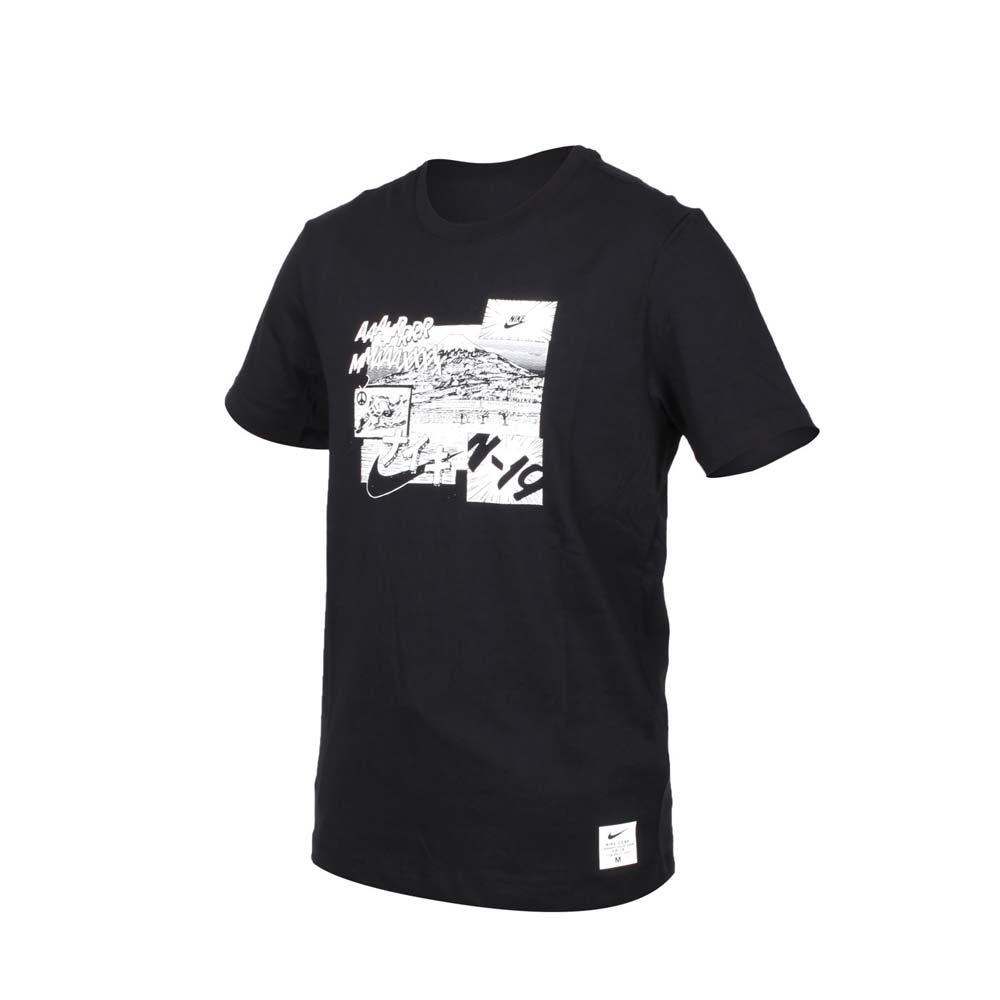 NIKE 男短袖T恤-短T 慢跑 路跑 黑白