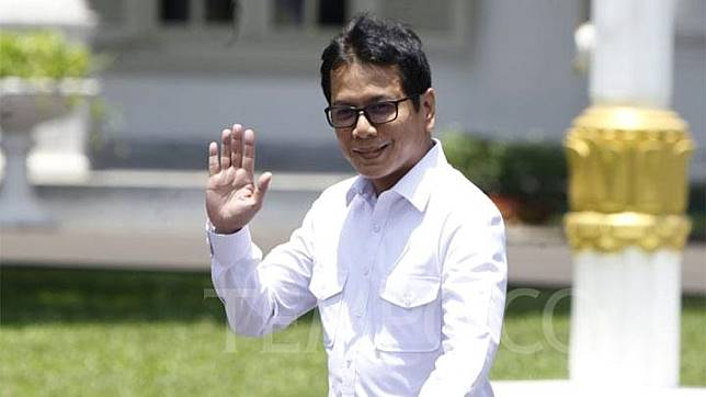Wishnutama tiba di Komplek Istana Kepresidenan, Jakarta, Senin 21 Oktober 2019. TEMPO/Subekti.