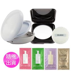 shu uemura植村秀 隱形控油蜜粉餅10g+粉撲+粉盒(白)+潔顏油4ml(隨機)