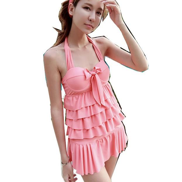 台灣出貨_清新自然.純色蛋糕二件式泳衣E311-B14048二件式泳裝.兩件式泳衣兩件式泳裝.游泳衣溫泉泡湯泳裝.比基尼