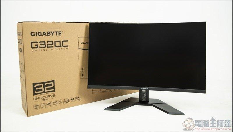 GIGABYTE G32QC 曲面電競螢幕開箱 - 10