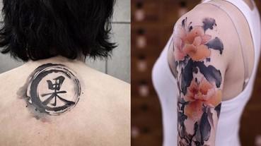 誰說中文刺青就醜?這一種中國風「水墨紋身」 瀟灑又浪漫的意境令人神往!