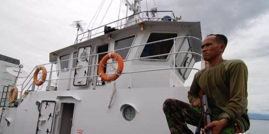 kapal perang kejar KM Mina. ©2019 Merdeka.com/antara