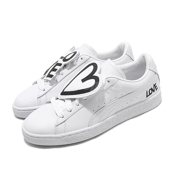 370190-01 皮革鞋面 手寫塗鴉 基本款 LOVE 球鞋穿搭