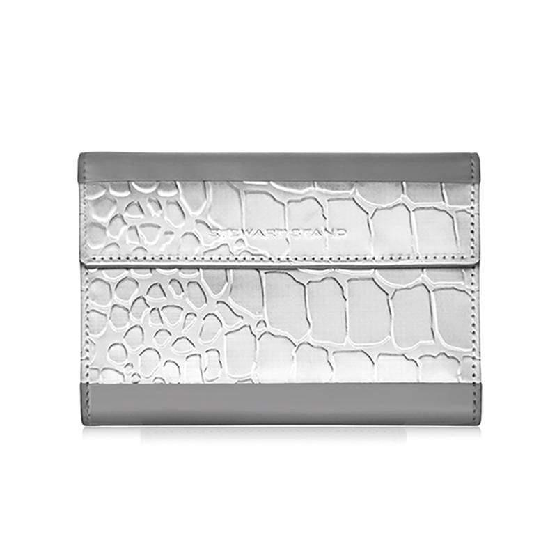 不鏽鋼RFID防盜護照包 Passport Wallet Alligator, Grey 1-B-0003-001-22