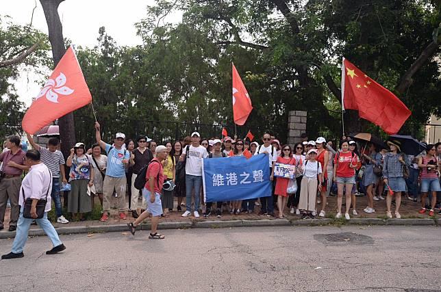 有團體到港台外抗議。