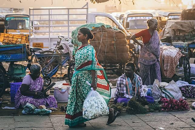 ▲印度第六大城市清奈一隅。(示意圖,圖中人物與本文無關/取自 Unsplash