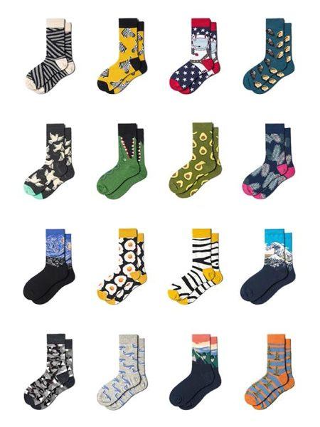 襪子足下工作室綠色牛油果襪子女夏薄個性街頭中筒襪ins潮流搞怪長襪可卡衣櫃